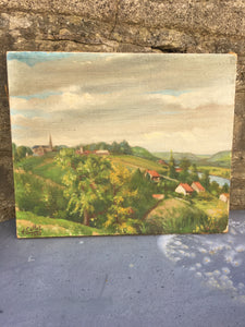 Sweet French Original Landscape Oil on Canvas Painting