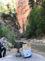 The narrows, Top down, Zion, National Park, Utah, slot canyon, camping, backcountry, hiking, backpacking, camp food, campground
