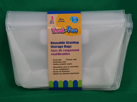 Reusable standup silicon storage bags - Sparta Country Candles