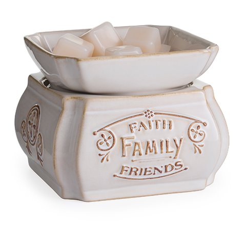 Faith, Family, Friends Candle Warmer - Sparta Country Candles