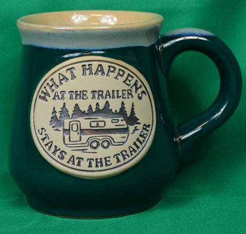 "Mug ""what happens at the trailer...."" - Sparta Country Candles"