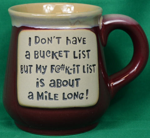 "Mug ""Bucket list...."" - Sparta Country Candles"