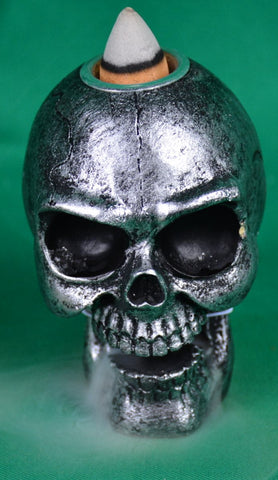 skull backflow incense burner - Sparta Country Candles