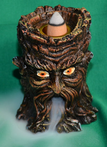 old man tree backflow incense burner - Sparta Country Candles