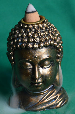 Buddha head backflow incense burner - Sparta Country Candles