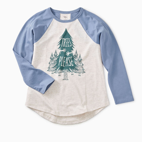Trees Please Raglan Tee