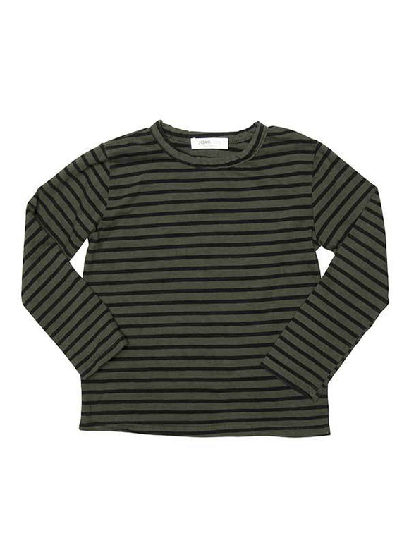 Olive Striped Long Sleeve Tee