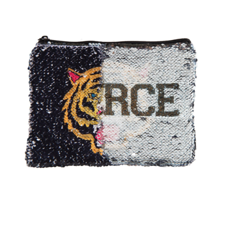 Fierce Tiger Magic Sequin Pouch