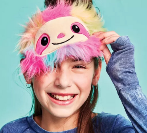 Rainbow Sloth Eye Mask