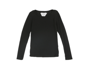 Longsleeve Black Tee with Thumbholes