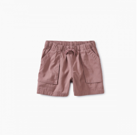 Dusty Rose Pull On Shorts