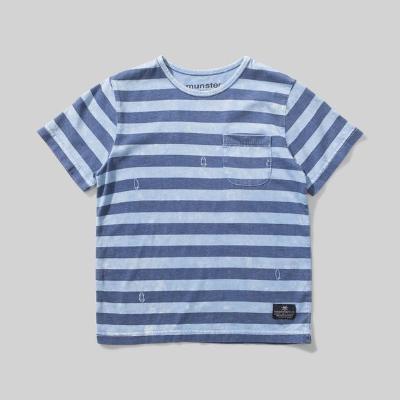 Washed Up Blue Stripe Tee