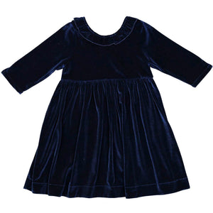 Princess Diana Blue Velour Dress