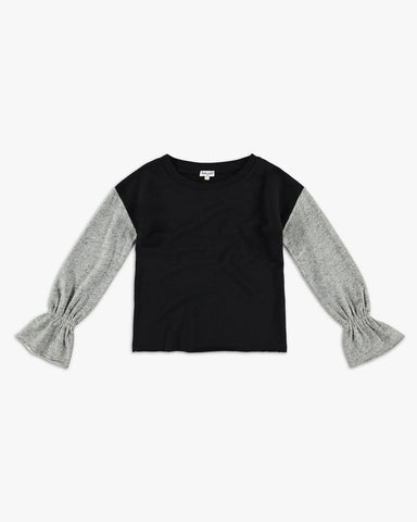 Bell Sleeve Two Tone Sweatshirt