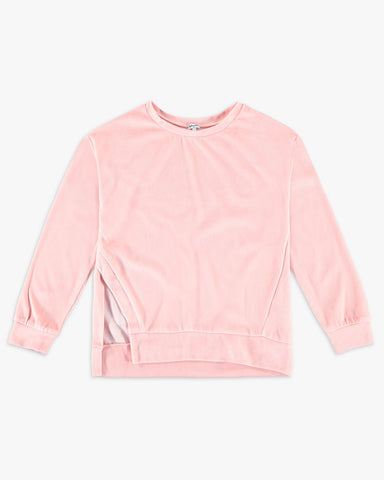 Pink Velour Sweatshirt