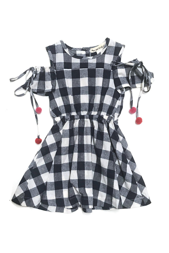 Sunny Dress- Navy Gingham