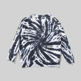 Twisted Black Tie Dye Pullover Sweater