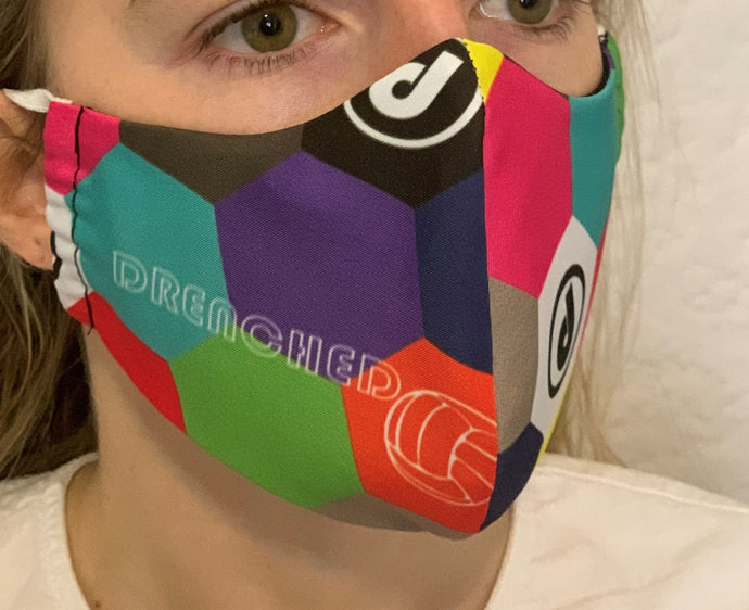 DRENCHED HEXAGON Face Mask