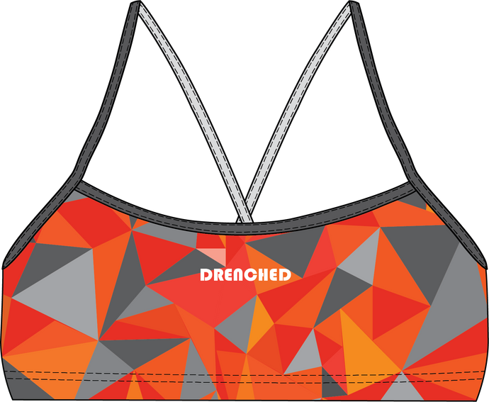ORANGE DEFLECTION Thin Strap Bikini Top