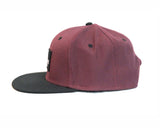 Breton Brewing Snap Back - Maroon/Black