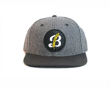 Breton Brewing B logo Snap Back - Grey/Black