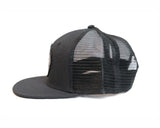 Breton Brewing Mesh Snap Back - Black - B Logo
