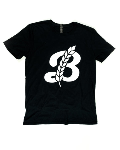 Men's 'B' Crew Neck Tee - Black