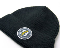 Shell Patch Beanie - Black