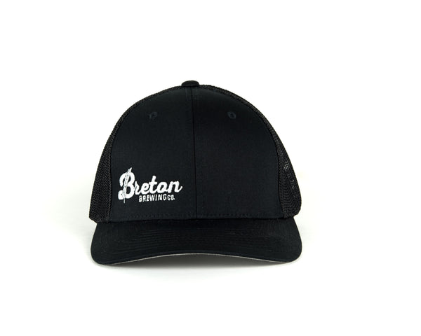 Mesh FlexFit Baseball Hat - Black