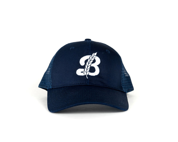 Snapback Baseball Hat - Navy