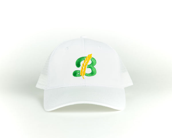 Snapback Baseball Hat - White