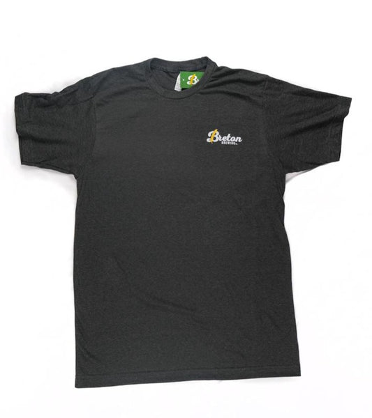 Men's Cursive Logo Tee - Charcoal