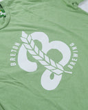 Men's 'B' Logo Tee - Heather Green