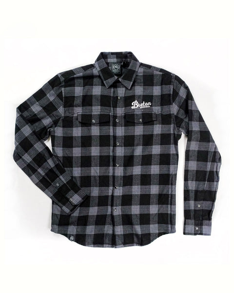 Men's Plaid Flannel - Grey