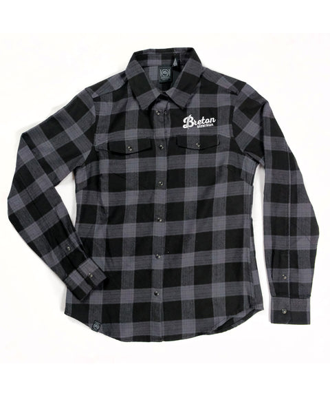 Women's Plaid Flannel - Grey/Black