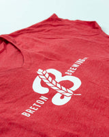 Women's 'Breton B' V-Neck Tee - Red