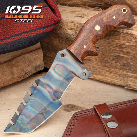 Fantasticblades| Timber Wolf Trial By Fire Tracker Knife And Sheath