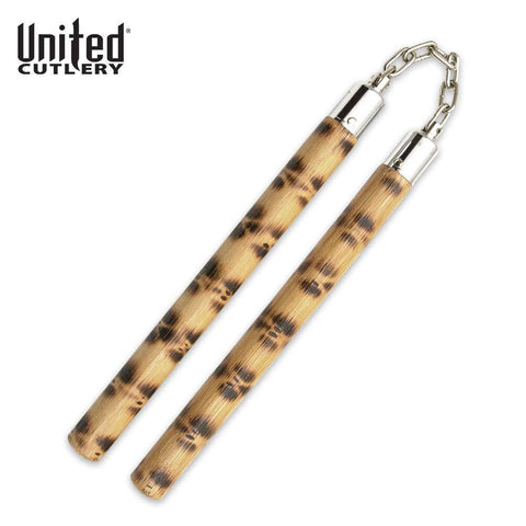 Self Defense Martial Arts Brown Rattan Nunchakus