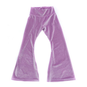 Lilac Velvet Bell Bottoms