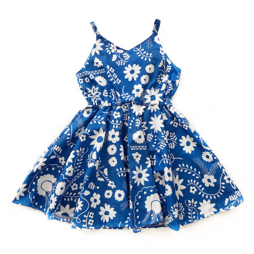 Blue Daisy Sweetheart Dress