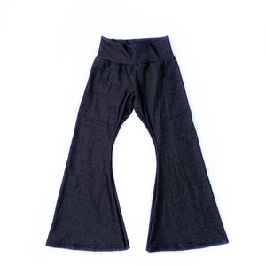 Black Stretch Denim Bell Bottoms