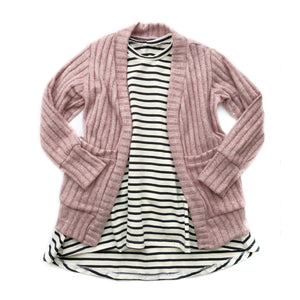 Last Chance - Heathered Pink Cardigan