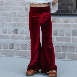 Ruby Velvet Bell Bottoms