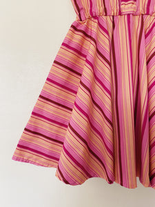Size 8 Sorbet Stripe Sweetheart Dress