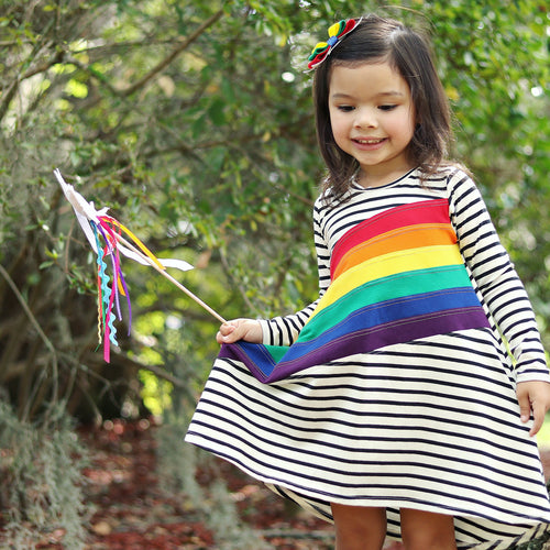 Monochrome Meets Rainbow T-Shirt Dress