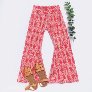 FLASH Sale Coral Feather Bell Bottoms
