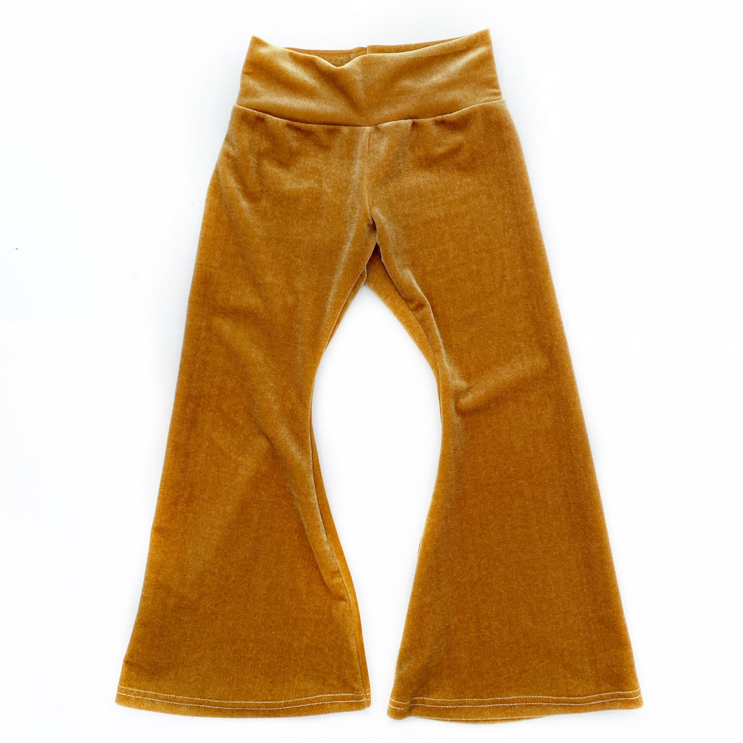 Golden Velvet Bell Bottoms