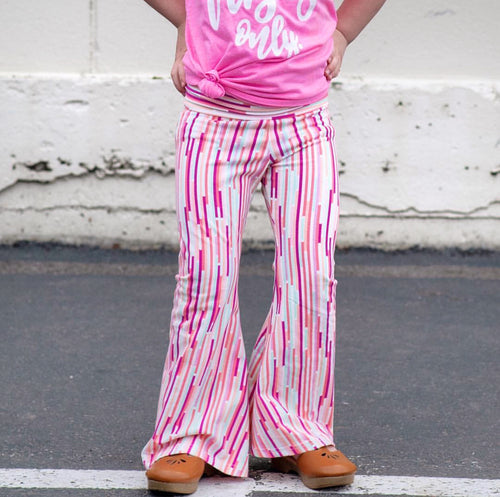 Sherbet Stripe Bell Bottoms