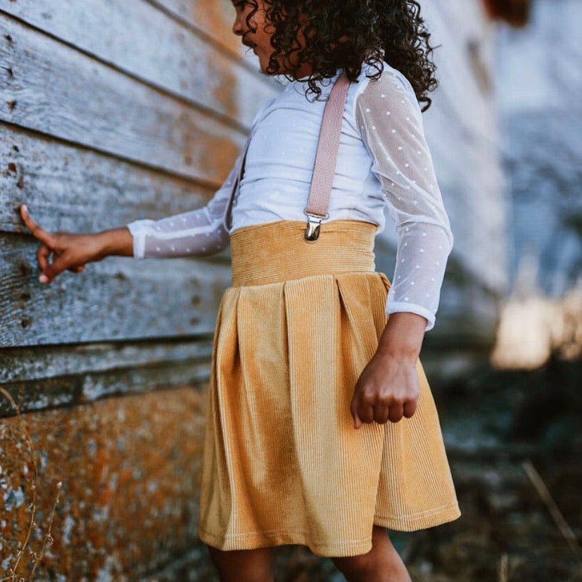 Sunflower Corduroy Pleated Skirt
