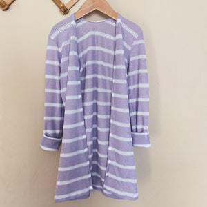Lavender Striped Cardigan